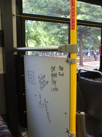 Bus poetry, left side