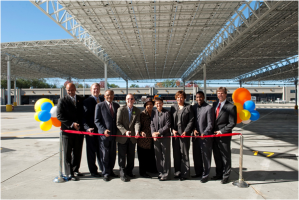 Officials at Laredo bus facility ribbon cutting